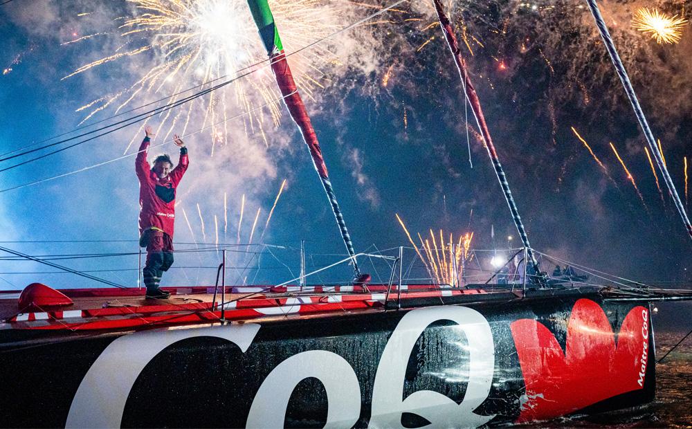 Yannick Bestaven, grand vainqueur du Vendée Globe