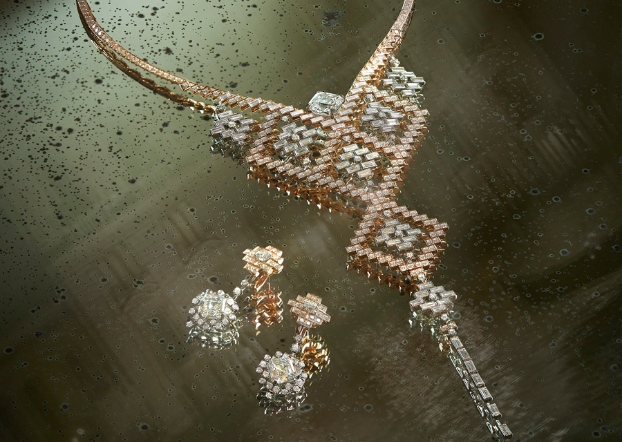 Collier et boucles d'oreilles transformables EBLOUISSANTE de la collection Escale à Venise de Chanel