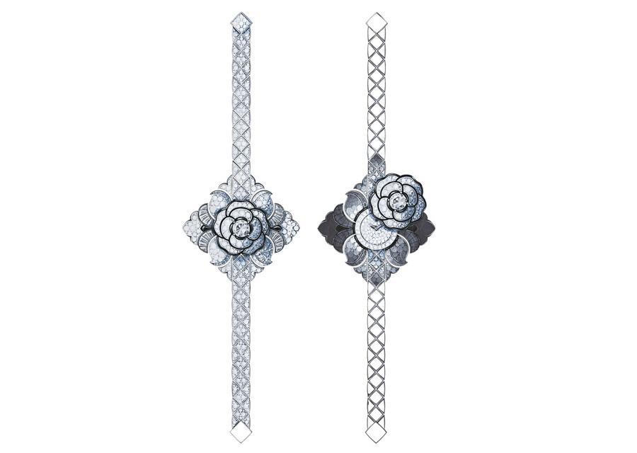 La montre bijou CAMELIA BAROQUE de la collection Escale à Venise de Chanel