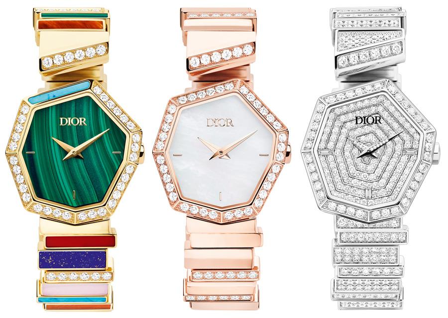 Les différentes montres de la collection Gem Dior sont toutes plus exceptionnelles les unes des autres
