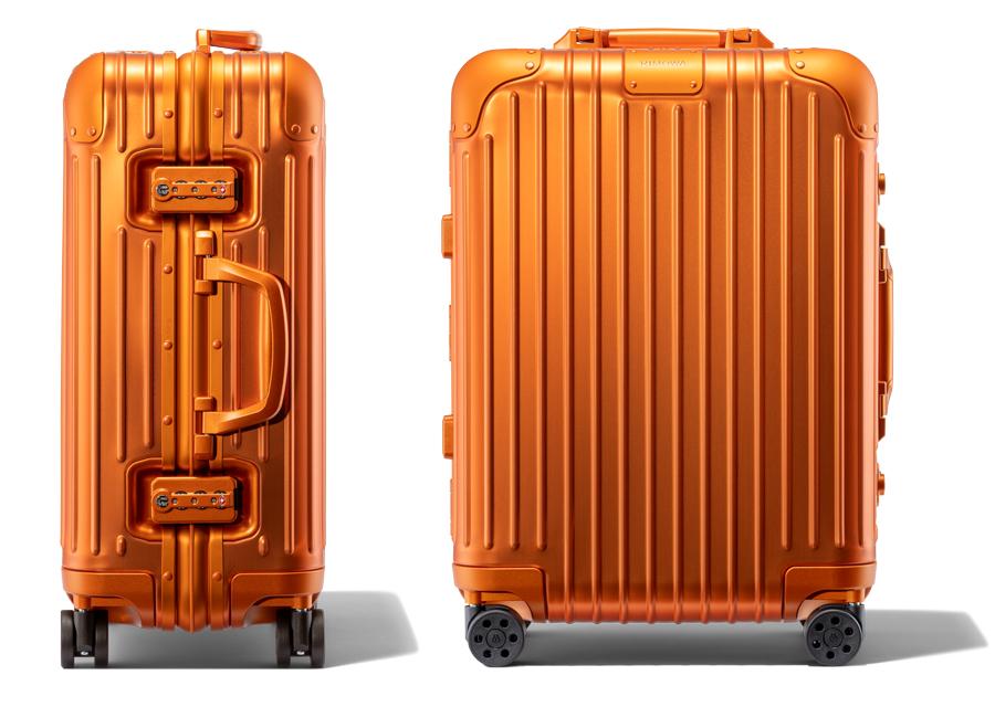 Mars, la nouvelle valise Rimowa d'un orange vif et intense