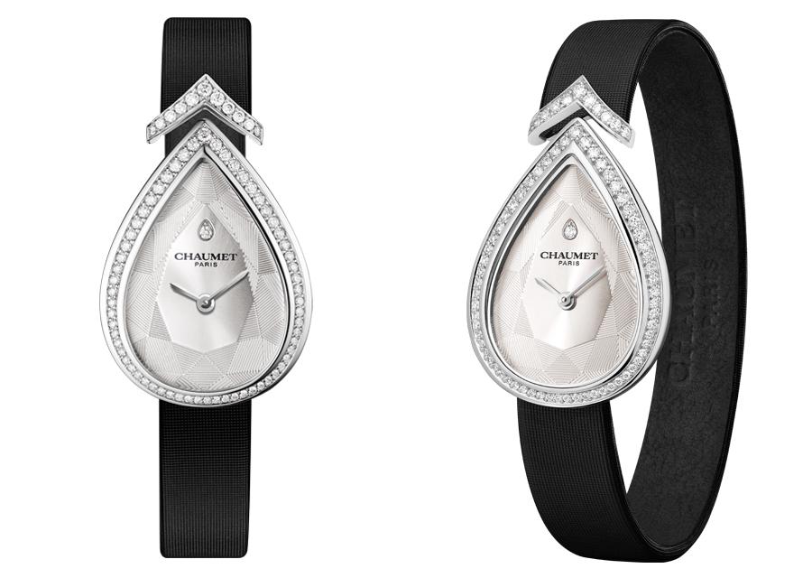 La montre Joséphine Aigrette de Chaumet en or blanc et diamants