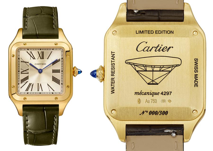 La montre Cartier Santos-Dumont XL - La Baladeuse est une édition limitée à 300 exemplaires