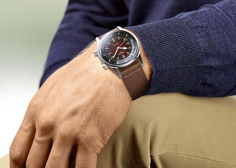 Technique par nature, la Legend Diver Watch de Longines est une séduisante montre vintage