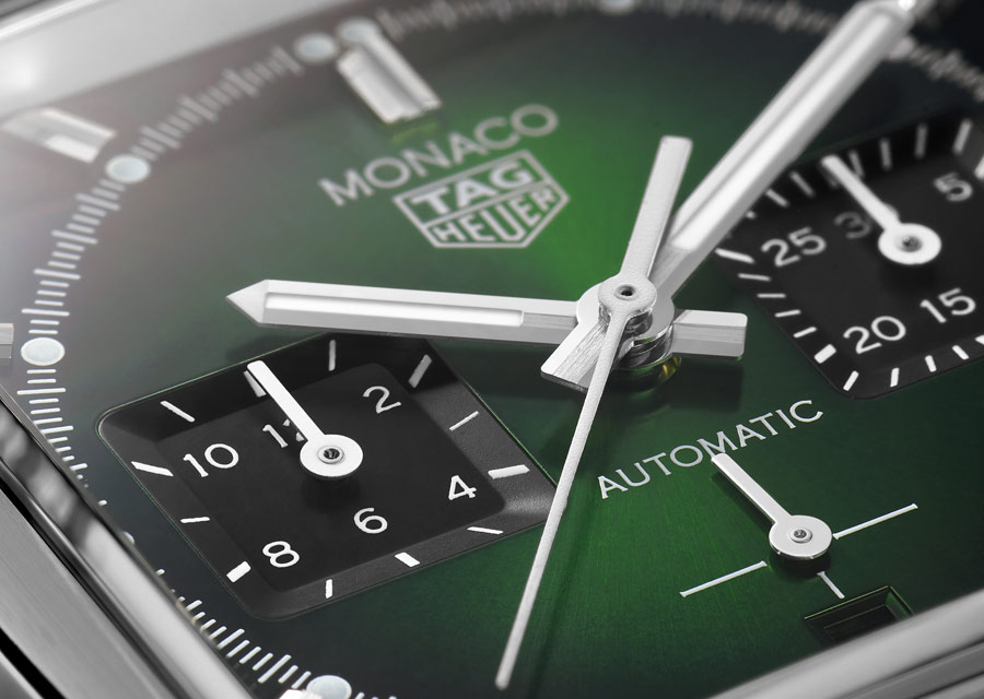 La nouvelle TAG Heuer Monaco Green Dial