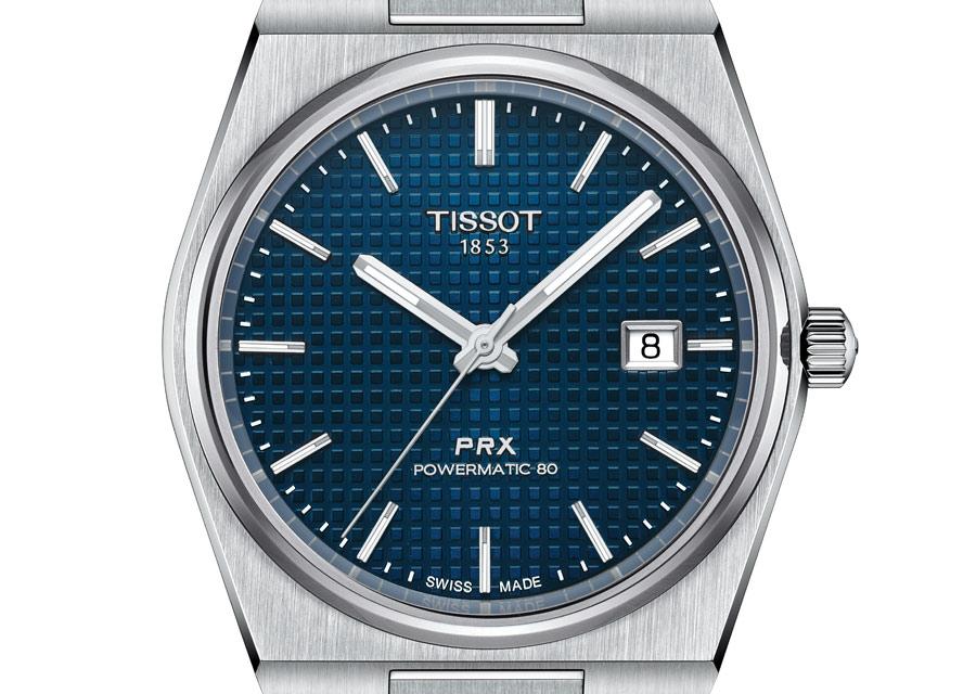 La montre Tissot PRX Powermatic 80 en acier à cadran bleu est déjà en rupture de stock