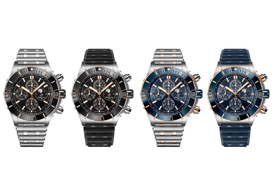 Les différents modèles de la Super Chronomat 44 Four-Year Calendar