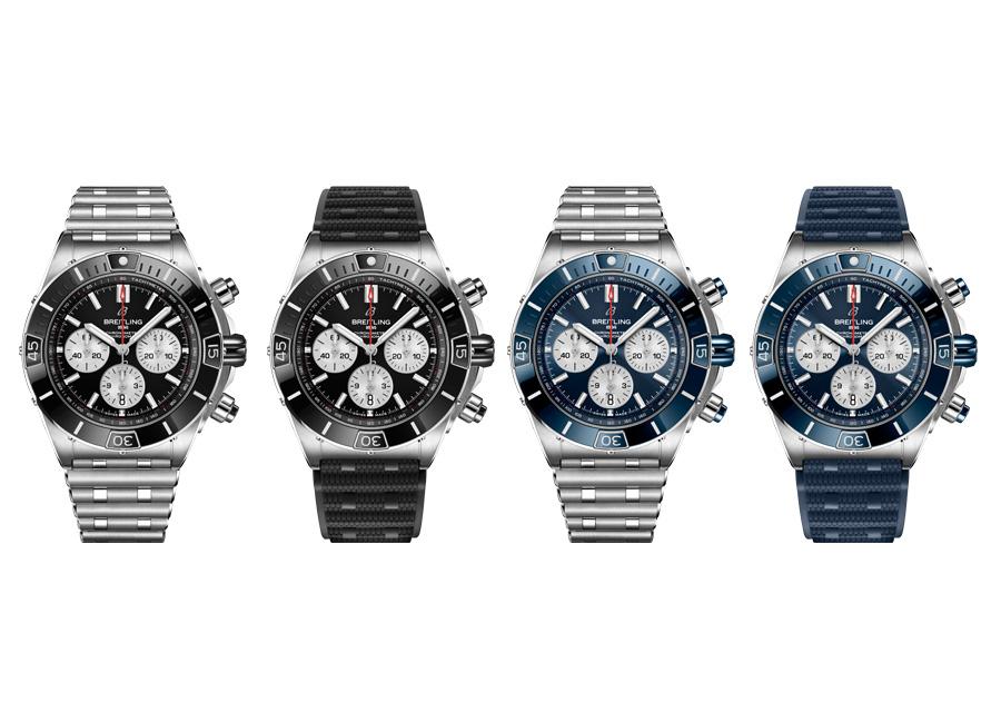 Les Super Chronomat de Breitling existent en trois versions différentes