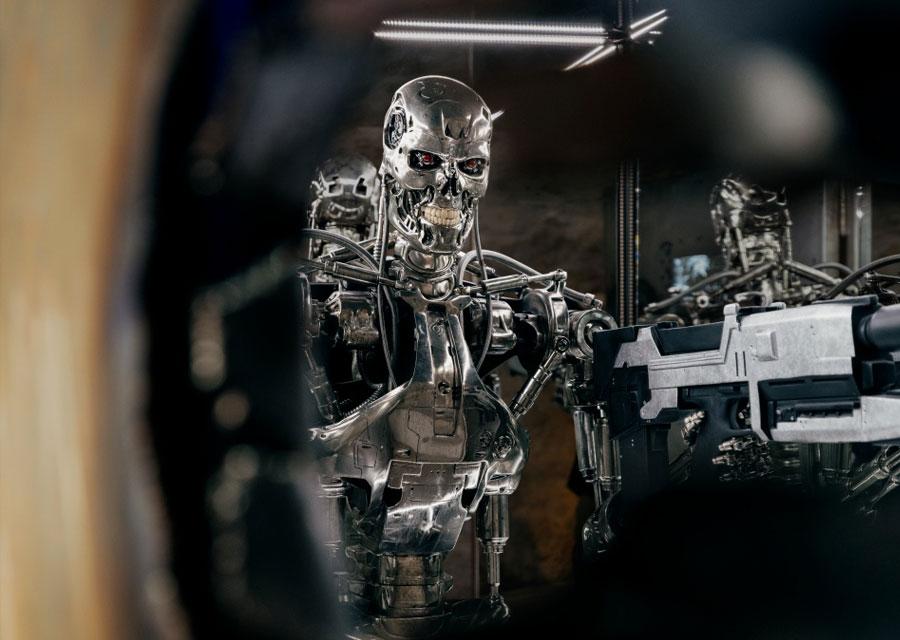 Le robot T-800 de Terminator à l'exposition Extraordinary Friendships