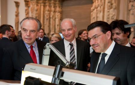 Frédéric Mitterrand, Alain Griset and Juan-Carlos Torres