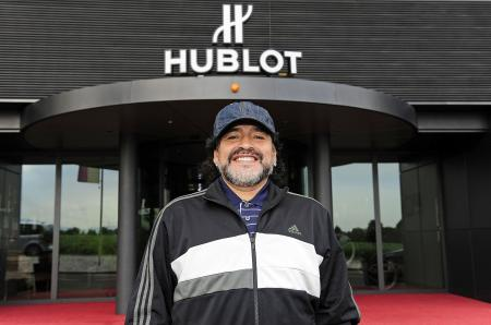 Diego Maradona visits the Hublot Manufacture