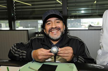 Diego Maradona visits the Hublot Manufacture