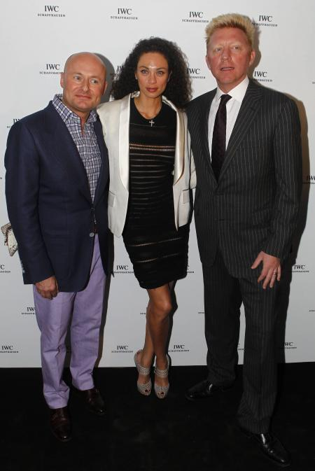Georges Kern, Boris Becker and his wife Lilly