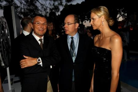 Jean-Christophe Babin with H.S.H the Prince Albert II and Charlene Wittstock
