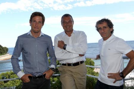 Jenson Button, Jean-Christophe Babin, Alain Prost
