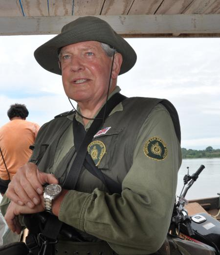 Colonel John Blashford-Snell during his 2011 Amazonian mission