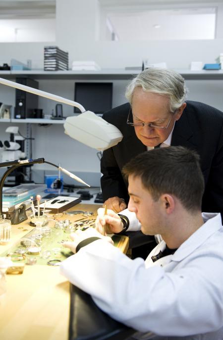 John Blashford-Snell during his manufacture Zenith visit