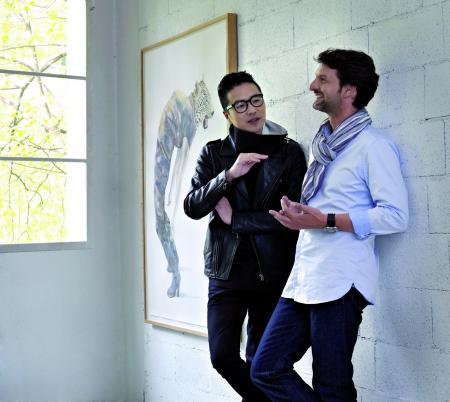 Maximilian Büsser and Huang Hankang ©galleries Bertrand & Grüner/Geneva and Danese/New York