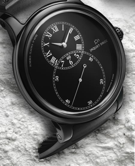 The black version and the iconic big second by Jaquet Droz.