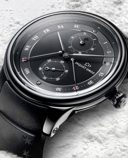 Ultimate declination: the Perpetual Calendar Ceramic by Jaquet Droz.