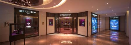 The new flagship store Boucheron in China is in the Sparkle Roll Plaza at Beijin.