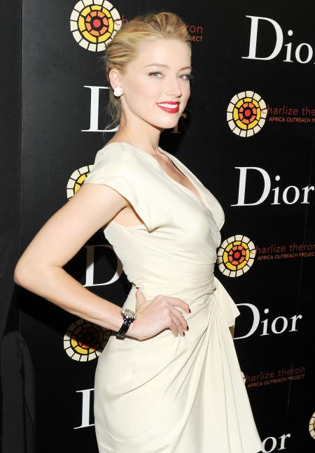 The actress Amber Heard at the launch of the Dior VIII at New York.