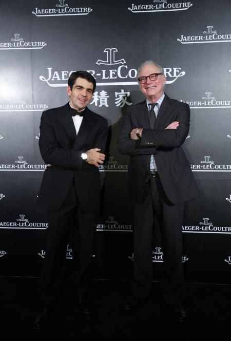 Jérôme Lambert, Chief Executive Officer Manufacture Jaeger-LeCoultre, with Barry Levinson during the opening ceremony of the 14th Shanghai International Film Festival the June 11th 2011.