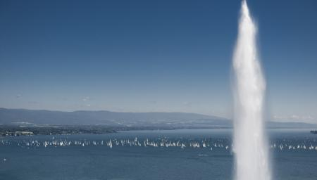 The Lac Léman : the beautiful setting of the Bol d'Or of which Corum is one of the main sponsors. © Von Siebenthal