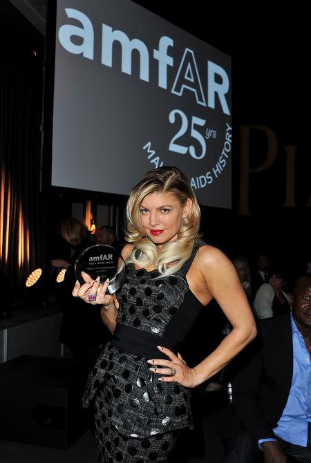 For her style and her commitment to the fight against AIDS, Fergie, the famous singer of Black Eyed Peas, received the Piaget award of inspiration.