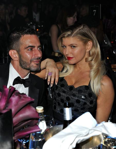 Fergie and Marc Jacobs during the dinner.