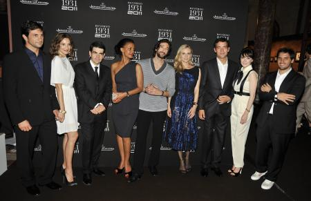 Eduardo Novillo Astrada, Astrid Munoz, Jérôme Lambert - CEO de Jaeger-LeCoultre, Dennenesch Zoude, Adrien Brody, Diane Kruger, Clive Owen, Carice Van Houten and guest gathered to celebrate the 80th anniversary of the legendary Reverso.