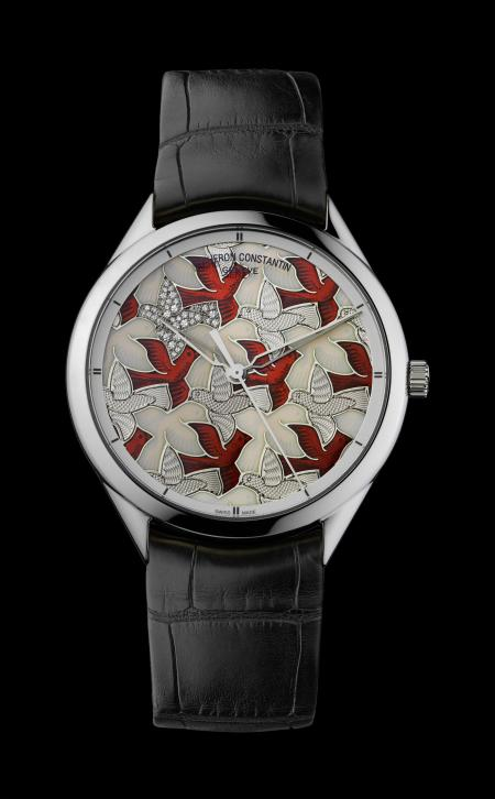 The dial of this superb Vacheron Constantin timepiece is inspired by a drawing of Escher.