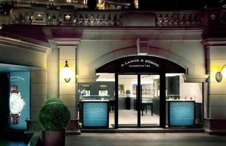 The entrance of the new A. Lange & Söhne boutique in Hong Kong.
