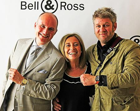 Carlos C. Rosillo, Bell & Ross CEO; Barbara Dumas, Internet and e-Commerce Director; Simon Cudd, Community Ambassador.