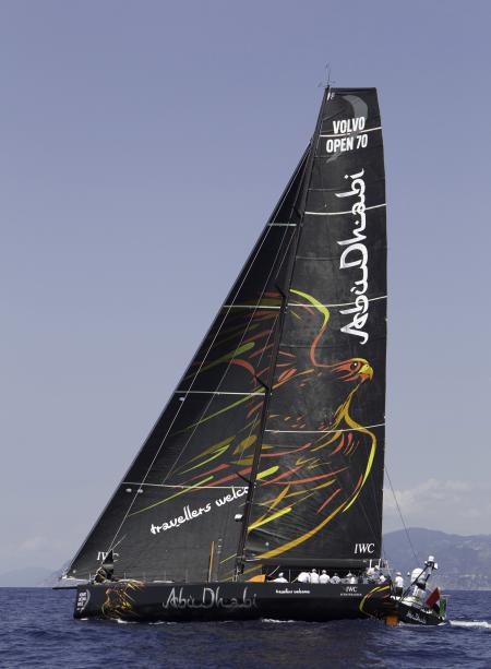 The new Volvo Open 70 racing yacht