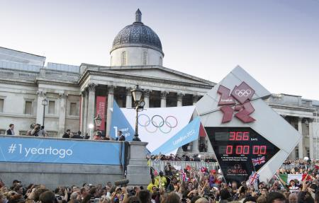 The OMEGA Countdown at Trafalgar Square in London on July 27th at 7.30 PM