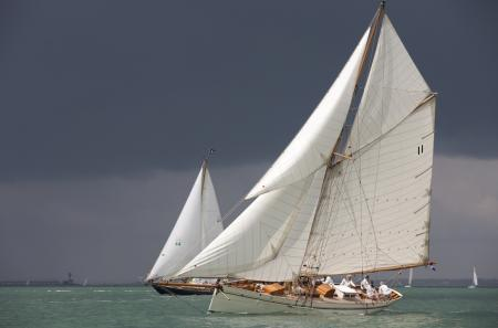Off the Isle of Wight, 71 classic and vintage yachts competed in the British Panerai Classic Week 2011 event.