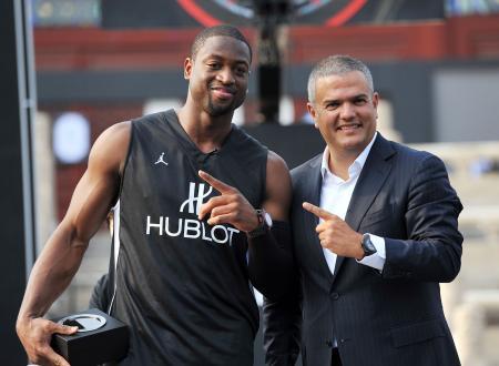 NBA All-Star and Hublot Ambassador Dwyane Wade with Ricardo Guadalupe, Managing Director of Hublot.