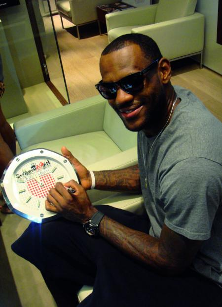 James Lebron basketball player cooperates in the project
