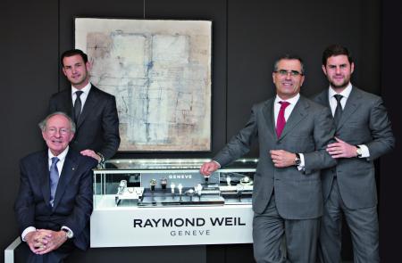 Raymond Weil : a family story… Raymond Weil, Olivier, Elie and Pierre Bernheim.