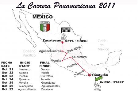 Road of la Carrera Panamericana 2011.