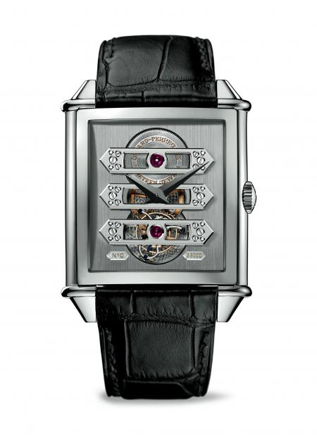 Vintage 1945 Tourbillon with three gold Bridges, Limited Edition in White Gold.