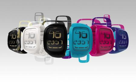 The Swatch Touch 2011 collection : ergonomic watches with big-screen LCD dials and a touch-sensitive zone.