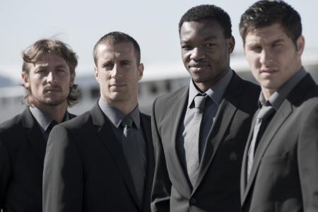Gabriel Heinzé, Benoît Cheyrou, Steve Mandanda and André-Pierre Gignac.