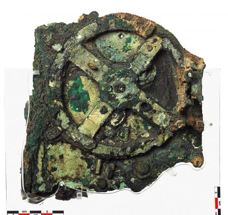 Fragment of the Antikythera Mechanism, which was discovered in 1901.