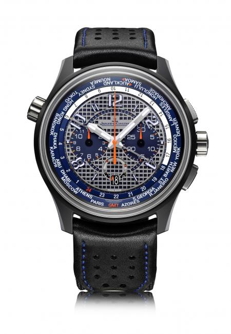 The AMVOX5 World Chronograph LMP1 (Réf. Q193J480, 250-piece limited series) celebrates 7 years partnership between Jaeger-LeCoultre and Aston Martin Racing.