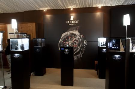 The Hublot's stand at the Les Montres'tradeshow.
