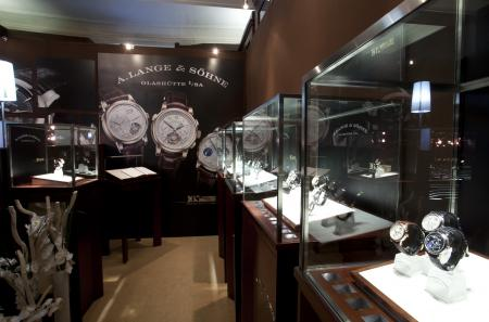 The A.Lange & Söhne's stand at the Les Montres'tradeshow.