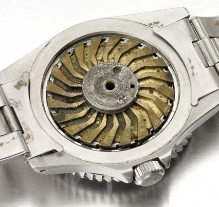 The Rolex Submariner from 'Live and let die', caseback. ©Christie's Images LTD. 2011