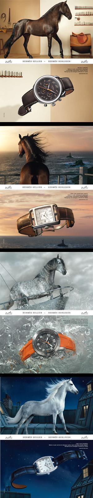 Hermès offre à ses collections horlogères une nouvelle campagne publicitaire.